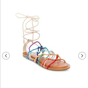 Mossimo Supply Multi Colored Gladiator Sandals